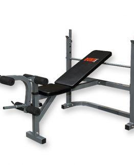 DUKE Fitness painonnostopenkki DF400 on tukeva, säädettävä painonnostopenkki jalkalaitteella. Selkänojan kaltevuus säädettävissä!